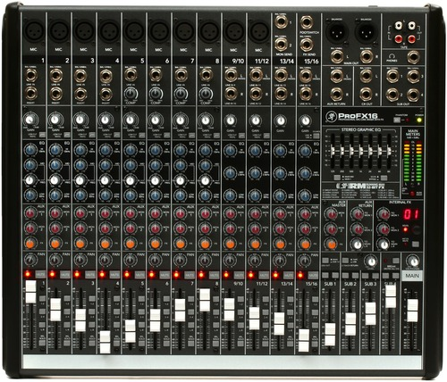 [정식수입] 16-channel, 4-bus Mixer with Built-in Effects and USB 모델명: ProFX16v2