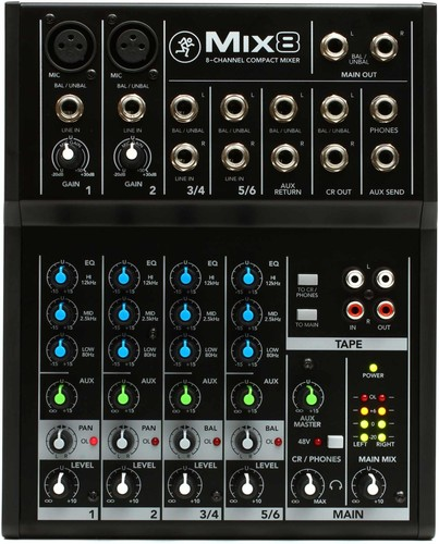 [정식수입] Mix8 - 8 Channel Compact Mixer
