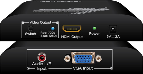 Key Digital Video Converters and Scalers KD-VCS500/Up-scales VGA 업스케일 해상도 720p or 1080p/VGA to HDMI Upscaler