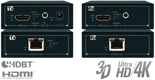 Key Digital KD-CATHD250POH/Power over HDBaseT/HDMI Lite POH via Single CAT5e/6 Extenders(Tx+Rx Set) with IR/RS-232, UHD/4K,울트라HD 지원